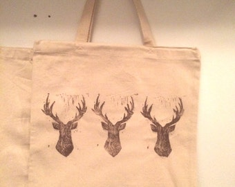 Wooden Deer Tote Bag
