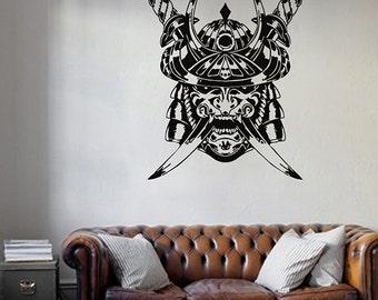 kik971 Wall Decal Sticker Samurai Japan mercenary soldier swords warrior weapon living room bedroom
