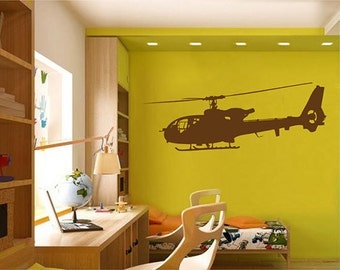 kik2321 Wall Decal Sticker military helicopter air transport children living room