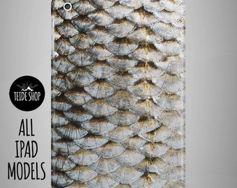 Fish Scale iPad Case iPad Mini Case iPad Mini Cover iPad Cover iPad Air Case iPad Sleeve Tablet Case Birthday Gift Idea Fish Scale iPad Case