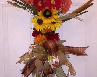 Sunflower Season - Autumn/Fall Door Hanger Swag or Wreath
