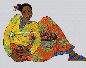 African Art #1 Cross Stitch Chart