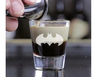 2pcs - Batman - Engraved Shot Glasses