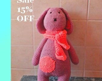 15 % OFF SALE!!!!!!!!!!Pink bunny