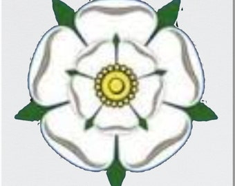 White Rose of Yorkshire Printed Coaster and Mug