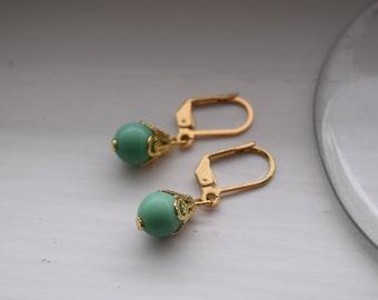Cute Mint Green earrings