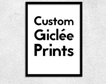 Custom Design Giclee Prints, Canvas Posters, Home Decor, Prints for Home, Unique Print The Prints
