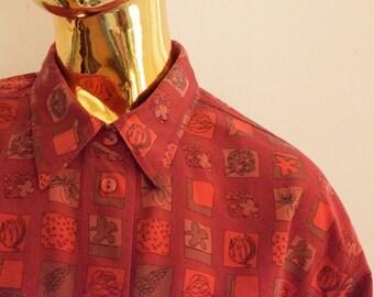 70s mens shirt, 70s shirt for men, 80s mens shirt , 80s shirt for men, red mens shirt, red shirt for men, red hipster shirt, 70s hipster