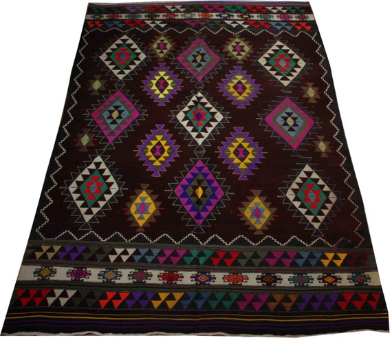 Items Similar To Aztec Style Rug Hippie Rug Purple Rug