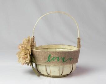 Rustic Flowegirl Basket
