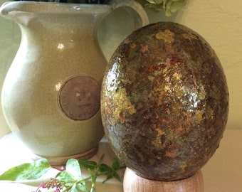 Hand Decorated Ostrich Egg no 2 / Dragon Egg
