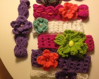 Headbands with flower