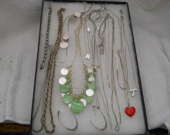 Vintage Jewelry Lot Necklaces Bracelet Earrings #406