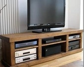 Rustic plank Furniture New Real Solid Wood sawn  Rustic Plank Pine Bench Tv Stand  ENTERTAINMENT UNIT  Bespoke FURNITURE  made to any size