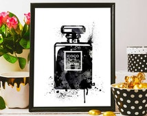 Chanel Party Decoration, Chanel Noir  Backdrop, Instant Download, Fashion Art, Printable Coco Chanel, Black And White Chanel Print