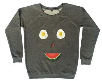 Happy Fruit Face Sweater
