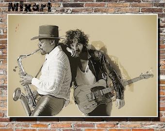 Born To Run 19x13 Album Sleeve Artwork, Print, Wall Art, Poster, Bruce Springsteen, The Boss, Clarence Clemons, Instagram, E Street Band