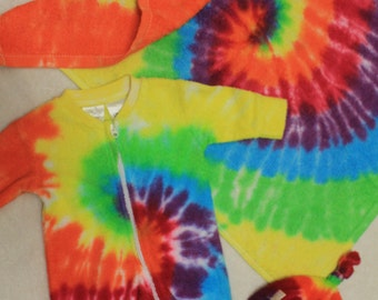 Rainbow Tie dye new born baby pack.