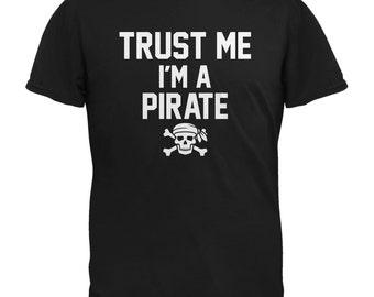 Trust Me Im A Pirate Black Adult T-Shirt
