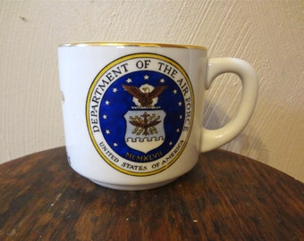 United States Air Force Vintage Coffee/Tea Mug 1974