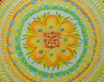 Flower Mandala Print