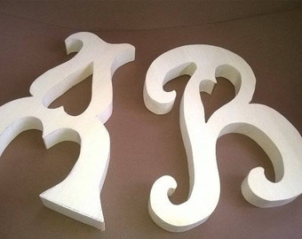 Wooden letter A and  B,  Free standing Wooden letters,   Wedding decoration,  Valentine's day gift