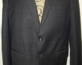 Vintage Custom Tailored 100% Wool Sports Coat/Blazer Sz 46R