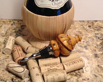 Wood wine stopper