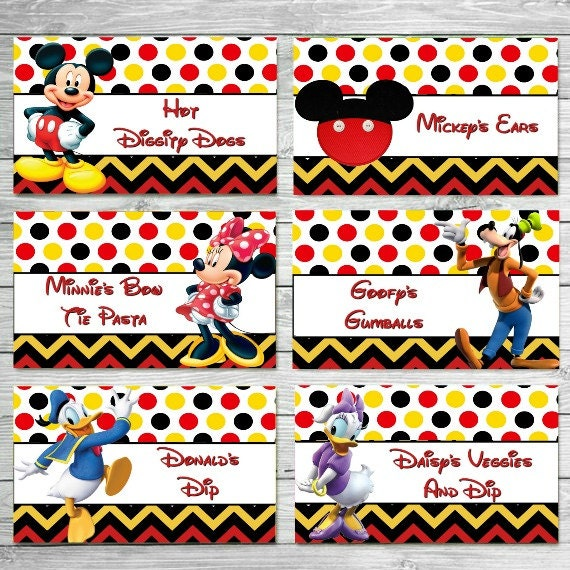 Like this item?  sc 1 st  Etsy & CUSTOMIZED Mickey Food Labels Mickey Mouse Clubhouse Food