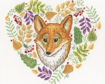 """Counted Cross Stitch Kit """"Forest Patterns"""" RTO"""