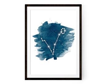 Pisces Art Pisces Constellation Zodiac Pisces Zodiac Star sign Printable Art Download  Pisces Zodiac Constellation Print  Astrology Art