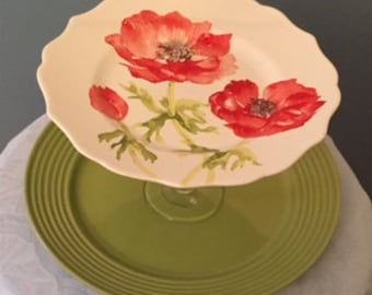 Poppies cake plate
