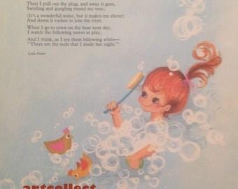 Vintage Children's Book Image (1974): Illustration (June Gulloch) & Poem