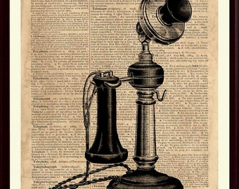 Telephone Print, Telephone Decor, Telephone Art, Office Decor, Telephone Wall Art, Telephone Artwork, Telephone Poster