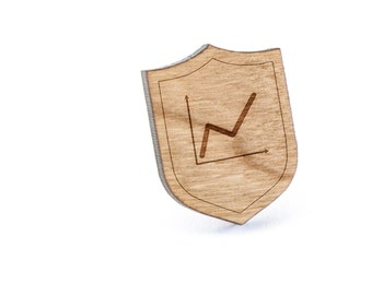 Graphs Lapel Pin, Wooden Pin, Wooden Lapel, Gift For Him or Her, Wedding Gifts, Groomsman Gifts, and Personalized