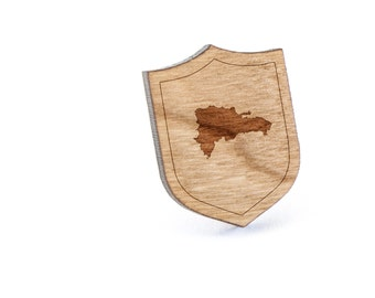 Dominican Republic Lapel Pin, Wooden Pin, Wooden Lapel, Gift For Him or Her, Wedding Gifts, Groomsman Gifts, and Personalized