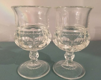 Two Crystal Shot or Sherry Cordial Glasses