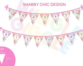 All About Floral Bunting Flag
