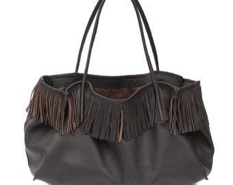 large fringe bag