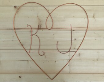 Decorative Heart with Initials for a door, gate, or wedding decoration
