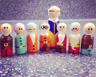 Snow White and the Seven Dwarfs inspired Pegfriends