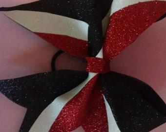 Red, black white kick Swish bow