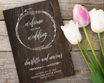 Rustic Wedding Program Template, INSTANT DOWNLOAD, Printable Ceremony, Order of Service, Editable Text, Digital Download, PDF #022-104WP