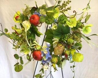 Summer Apple Orchard Wreath