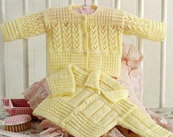 Knitting pattern baby cardigans / PDF / Vintage pattern