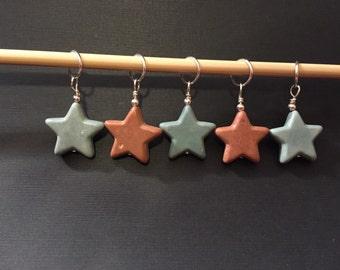 Stone Star Knitting Stitch Markers