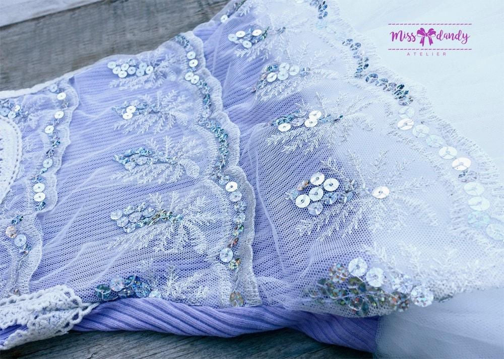 Camille Dress- Lavander Girls Ivory Sequin Dress, Flower Girl Dress, Jr Bridesmaid Top, Special Occasion Girls,