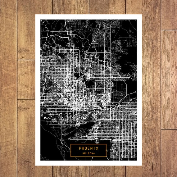 Phenix City (AL) United States  city photos gallery : ... Phoenix Arizona poster Phoenix Arizona map art United States of Americ