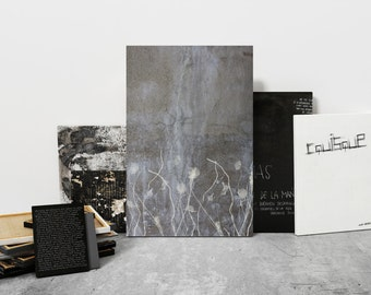 Cement Photography Artwork - Gray Home Decor - Modern Gray Photo - Gray Living Room Wall Art - Gray and Cream Wall Art - Abraded Print