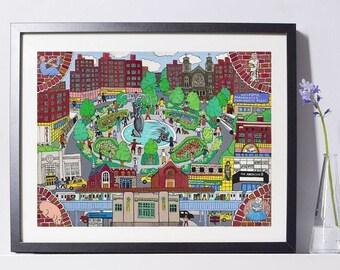 Parkchester, Bronx Art Painting PSNY - Home Decor